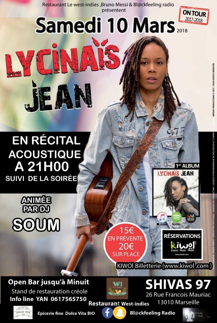 LYCINAIS JEAN en concert acoustique + Clubbin
