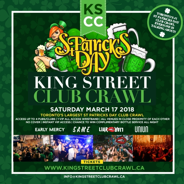 Toronto St. Patty's Day King Street Club Craw