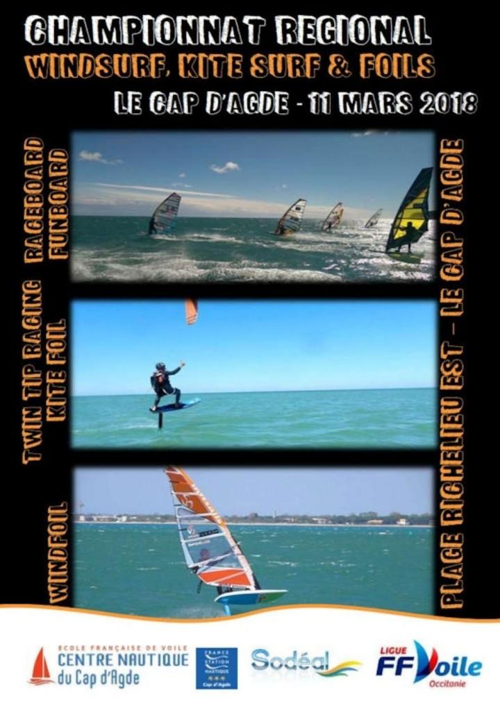 CHAMPIONNAT RÉGIONAL DE WINDSURF ET KITE SURF EN FOILS