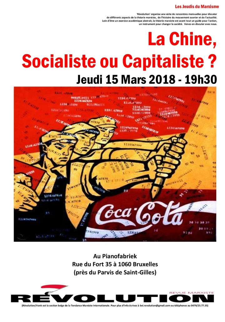 Jeudi du marxisme: la Chine, socialiste ou capitaliste?