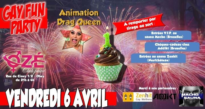 Gay Fun Party : soirée anniversaire (1 an)