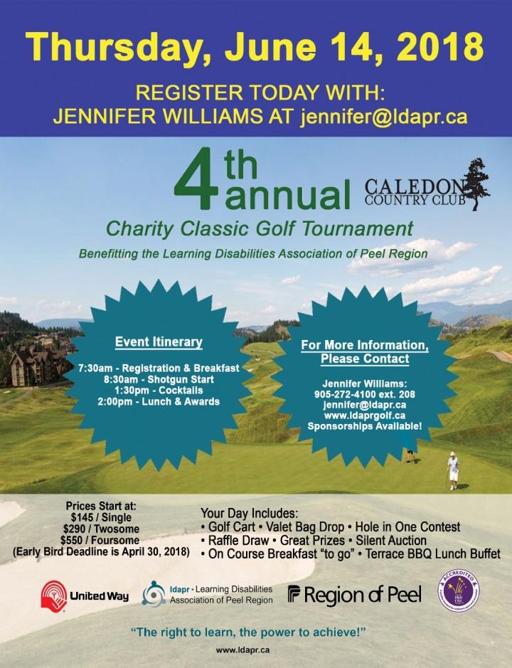 4th Annual Charity Classic Golf Tournament