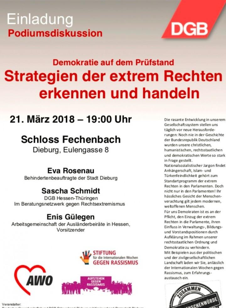 Demokratie auf dem Prüfstand - Strategien der extrem Rechten erkennen und handeln
