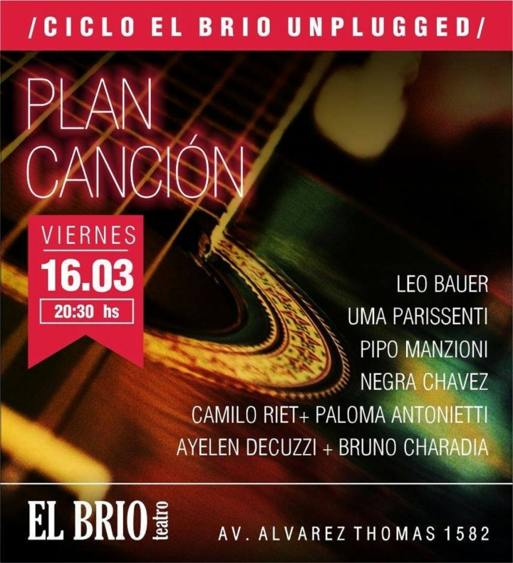 PLAN CANCION en `El Brio Unplugged`