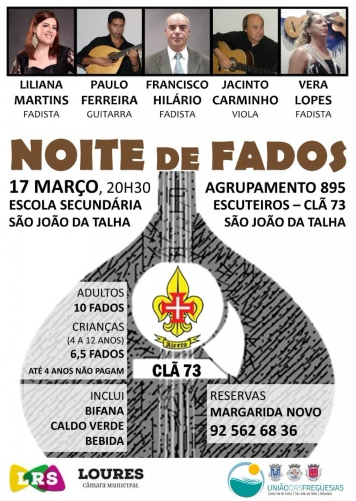 NOITE DE FADOS DO CLÃ 73