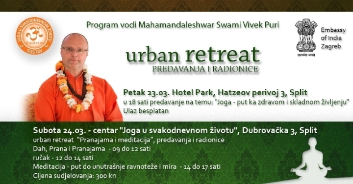 Javno predavanje i radionice o jogi u Splitu