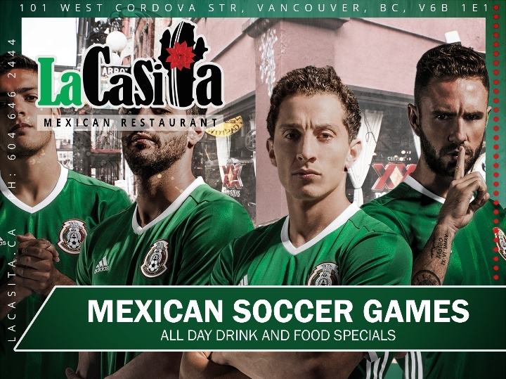 Mexican Soccer Games on a Big Screen in Downt