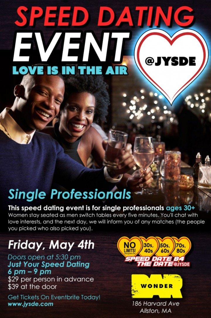 Speed Dating Event, Love Is In The Air