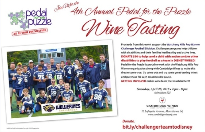 Pedal for the Puzzle 4th Annual Wine Tasting