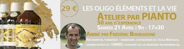 """Atelier ¨Pianto """"les oligo-éléments et la vie"""