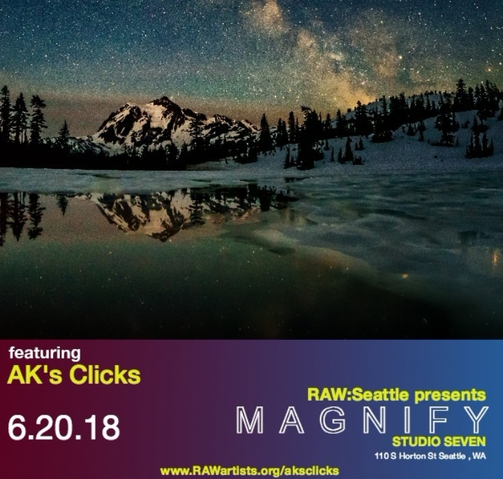 AK's Clicks, at Raw Artist Magnify, Seattle