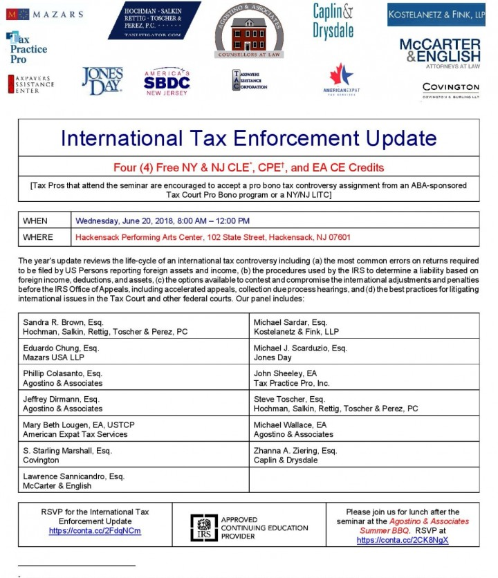 International Tax Enforcement Update