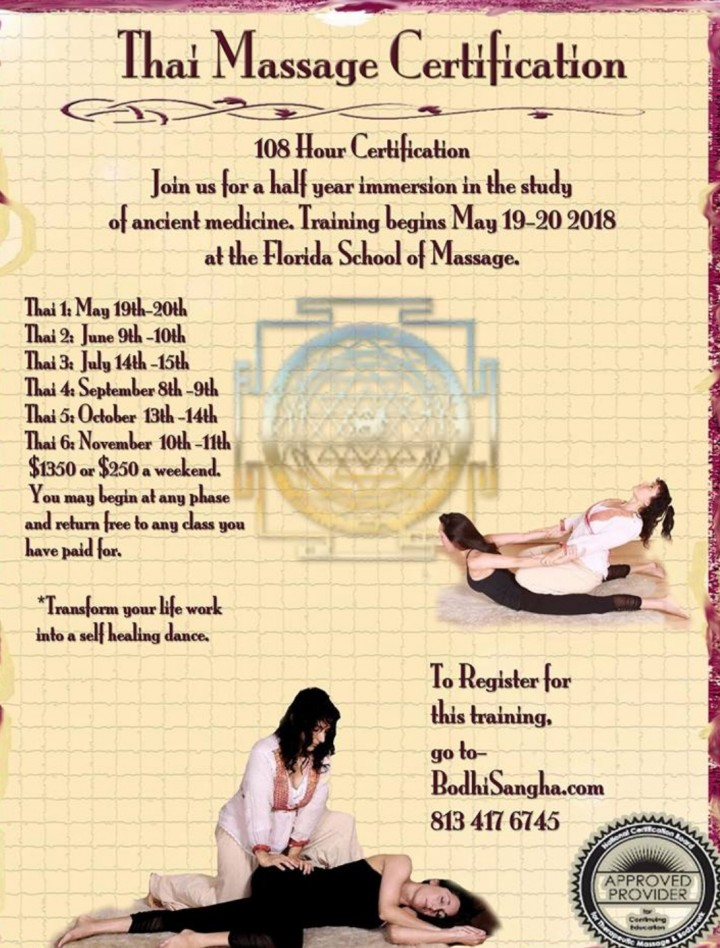 108 Hour Thai Massage Certification At Fsm 19 May 2018