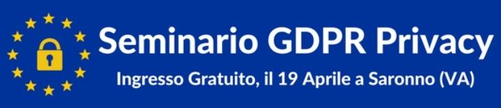 Seminario GDPR Privacy Gratuito