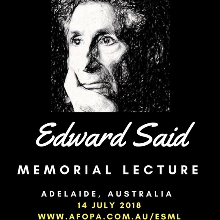 2018 Edward Said Memorial Lecture