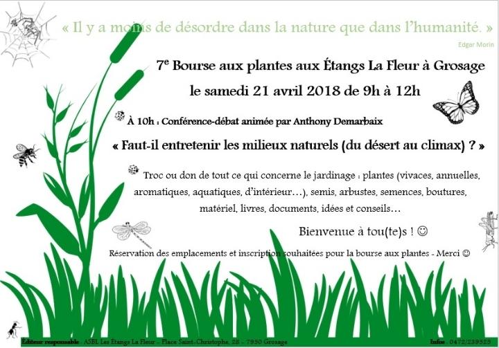 7e bourse aux plantes + conférence-débat