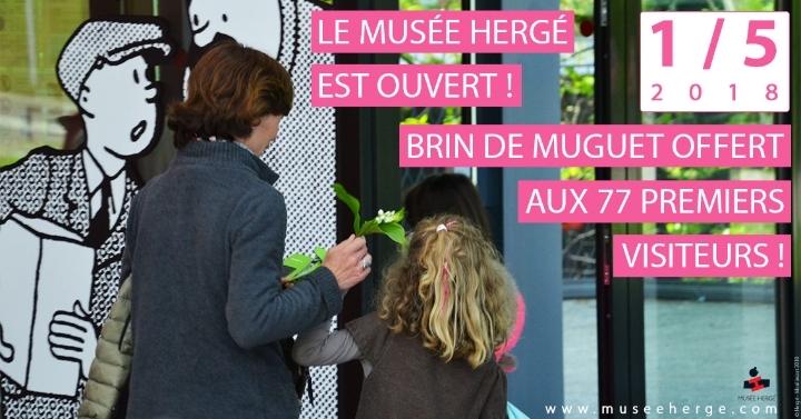 Le Musée Hergé est ouvert le mardi 1er mai