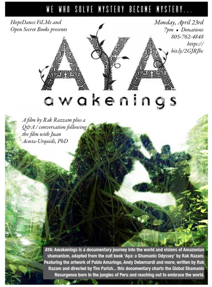 AYA AWAKENINGS film&discussion with JUAN ACOS
