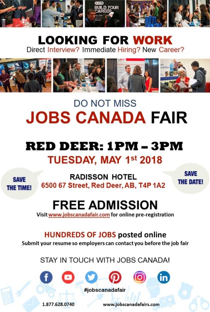 Red Deer Job Fair - May 1st, 2018