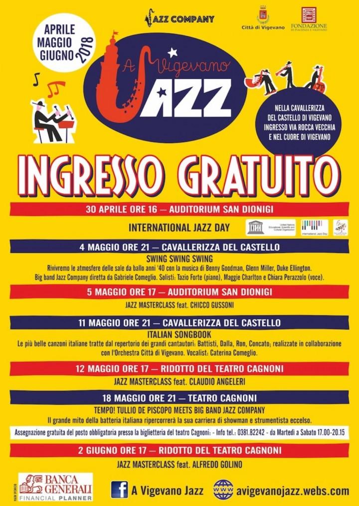 """""""A Vigevano Jazz"""": incontri e concerti con Tullio De Piscopo, Jazz Company Big Band, Caterina Comeglio e Orchestra Città di Vigevano dal 30/4 al 2/6"""