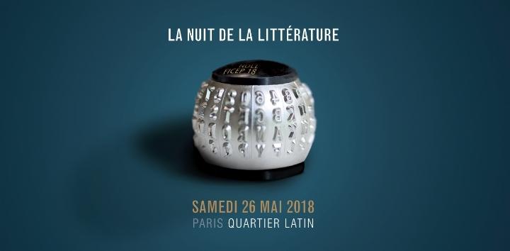 Nuit de la littérature 2018 - Quartier latin