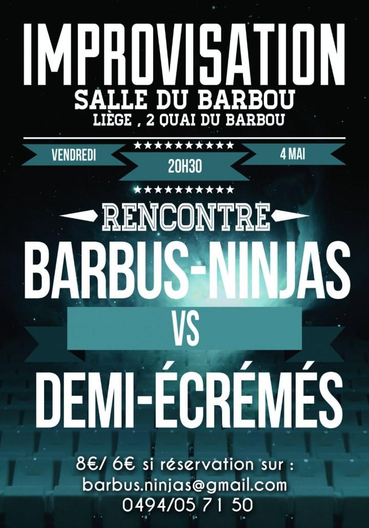 Rencontre improvisée: Barbus-Ninjas & Demi-Éc