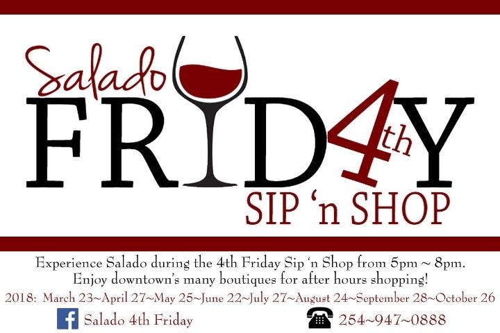 Salado 4th Friday Sip 'n Shop