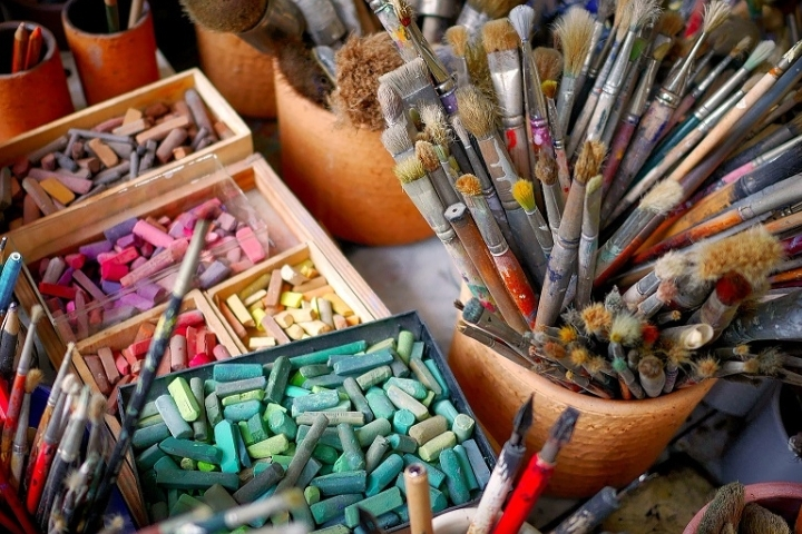 Explore Art Materials and Techniques with Mic