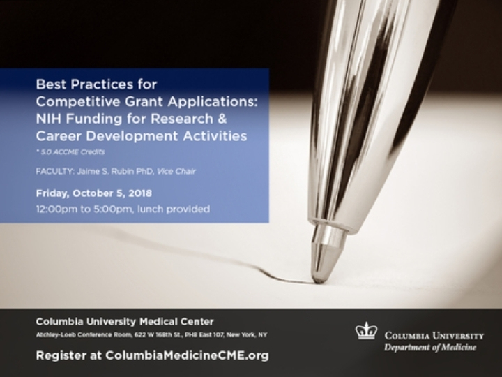 Best Practices For Competitive Grant Applications NIH Funding Research