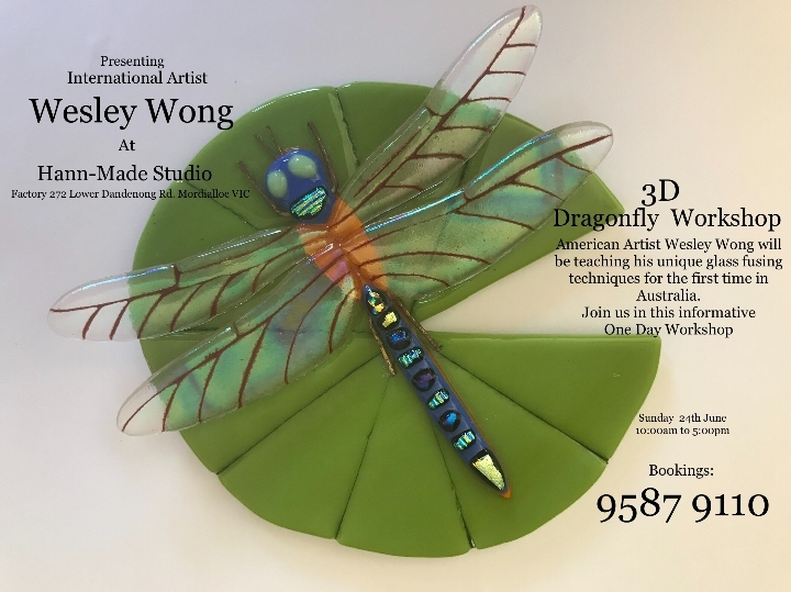 3 Dimentional Glass Fusing with Wesley Wong
