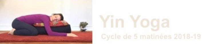 Cycle exceptionnel de 5 matinées YIN YOGA 2018-2019
