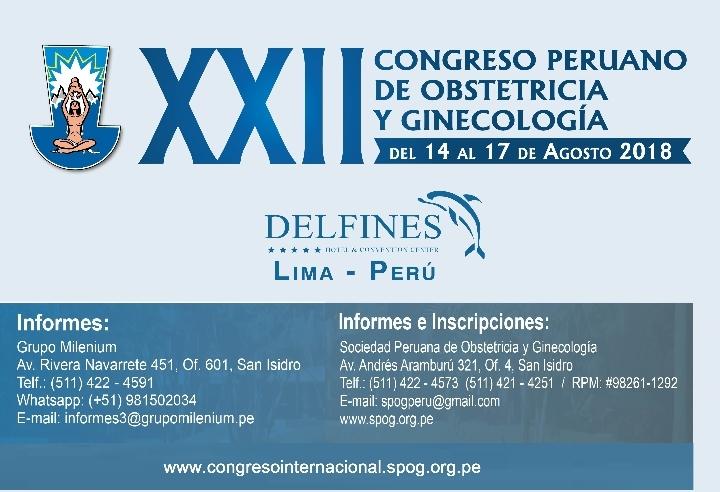 XXII Congreso Peruano de Obstetricia y Gineco