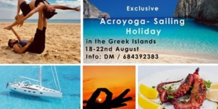 Exclusive Acroyoga/Sailing Holidays in Greek Islands