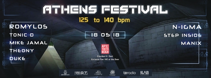 Athens Festival May 18th: 125 to 140 bpm!