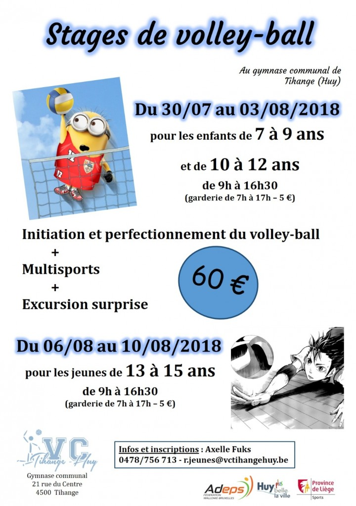 Stages d'été de volley