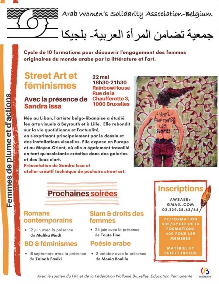 Formation « Street art & féminismes » avec Sandra Issa (Formation 1/10 du cycle     « Femmes de plume et d'actions »)