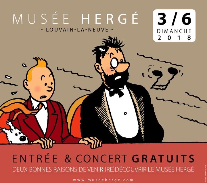 Entrée gratuite et concert au Musée Hergé !