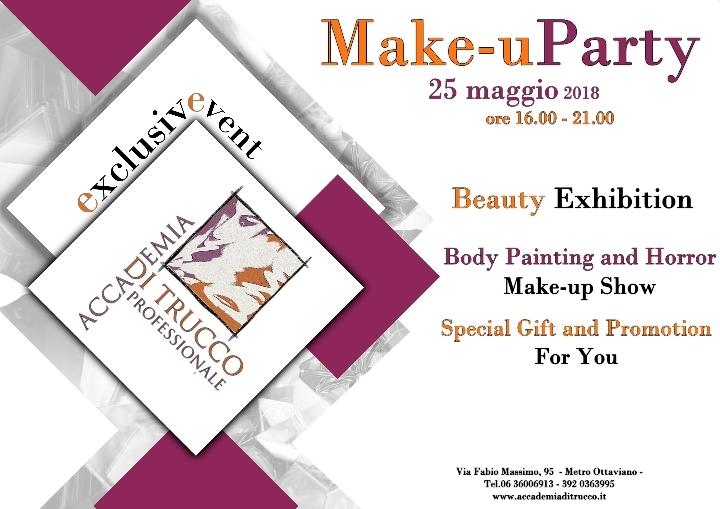 Make-uParty 25 Maggio 2018 -Accademia di truc