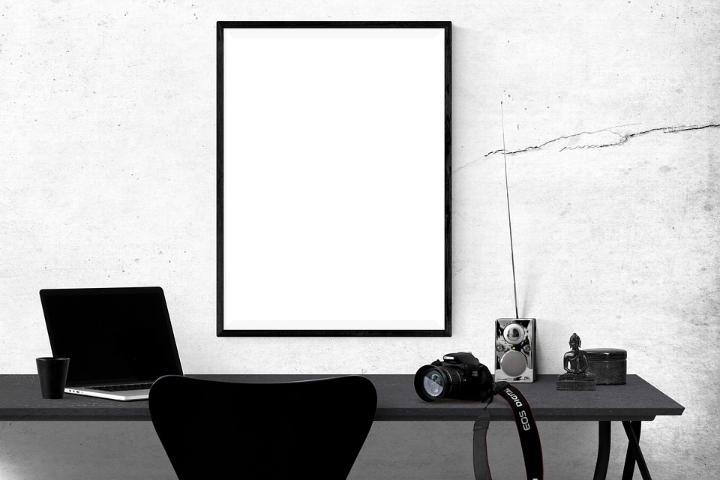 Dan det rette hjem med flotte sort hvid billeder til væggen