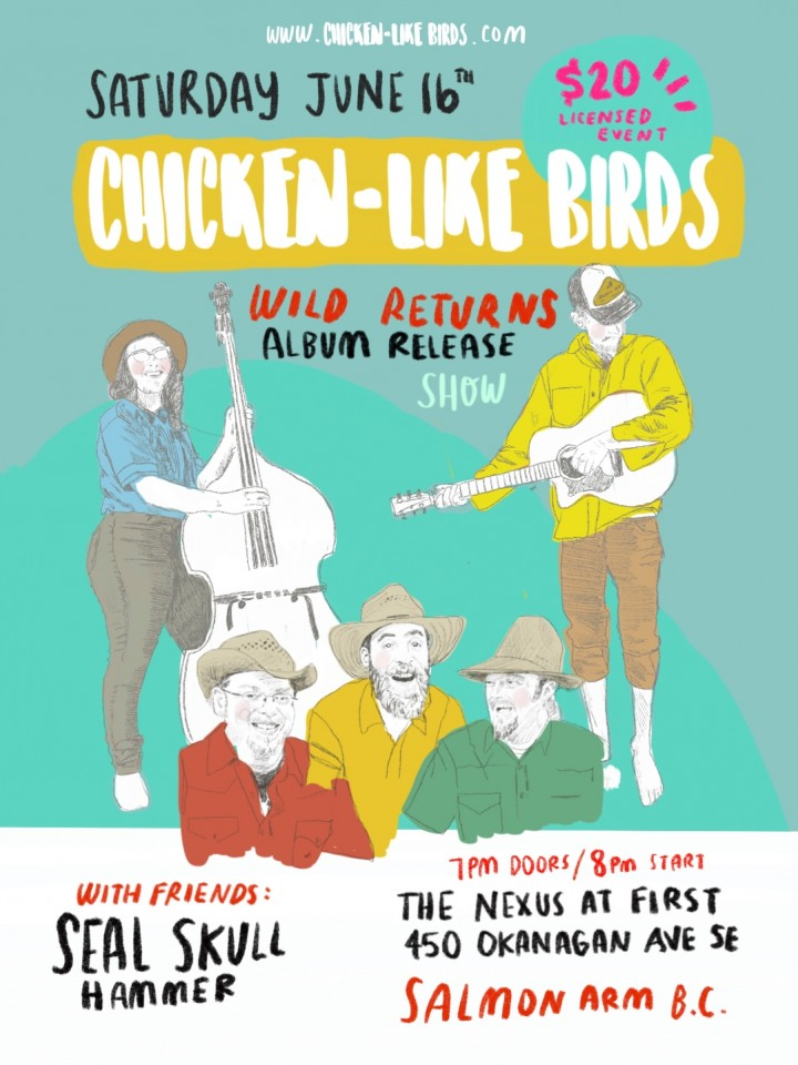 Chicken-Like Birds album release with Seal Sk