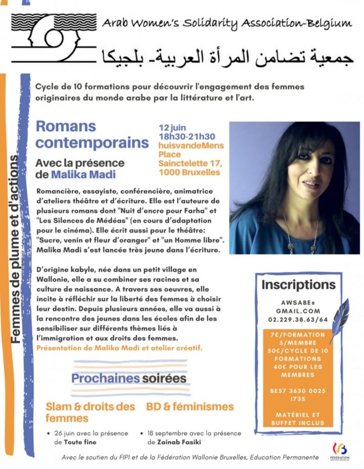 Formation « Romans contemporains arabes » ave