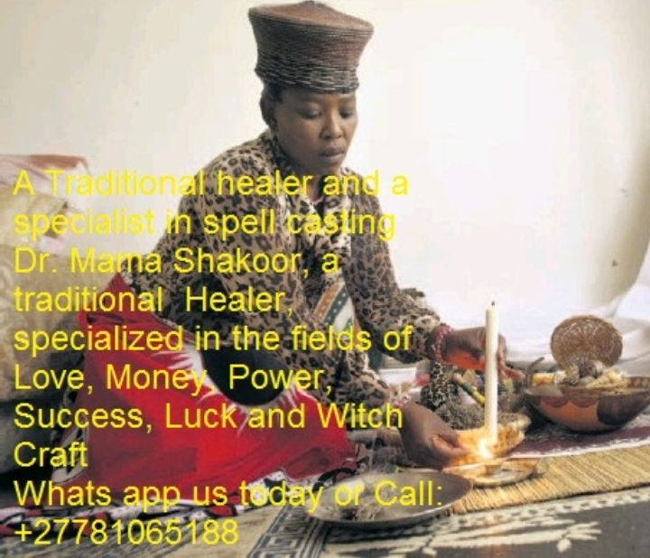 A Traditional healer and a specialist in spel