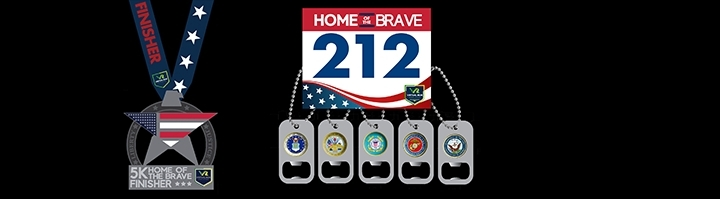 Home of the Brave Virtual 5k Run Walk - Fort