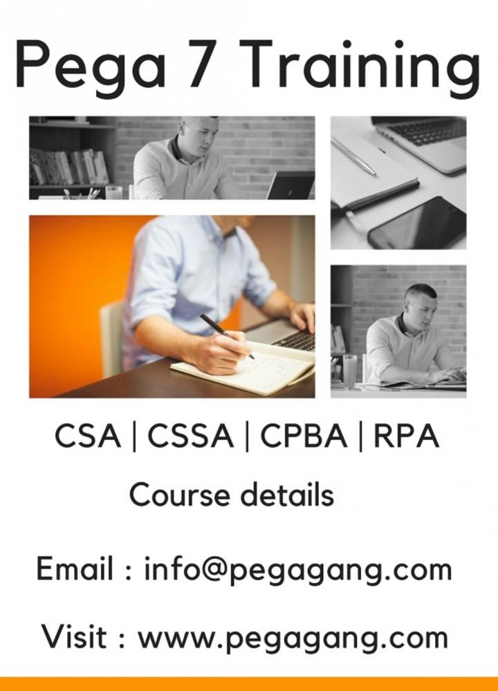 Pega training course content details