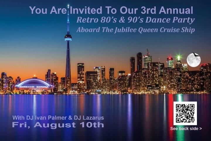 Retro 80s & 90s Dance Boat Cruise Party