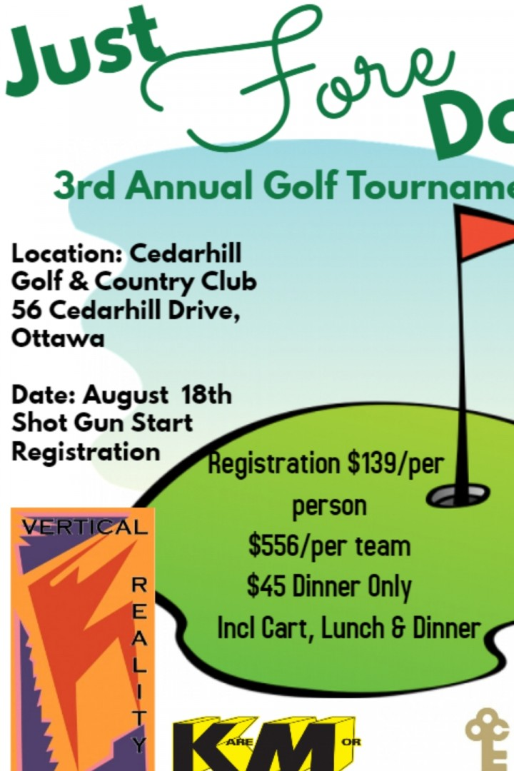 Just Fore Dogs 3rd Annual Golf Tournament