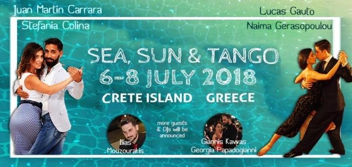 Sunny Tango Festival in Crete island, Greece, 6-8 July 2018