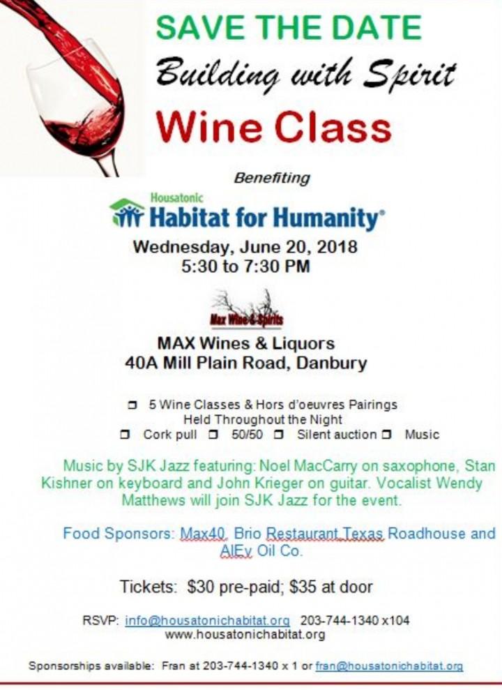 Wine class benefiting Housatonic Habitat for