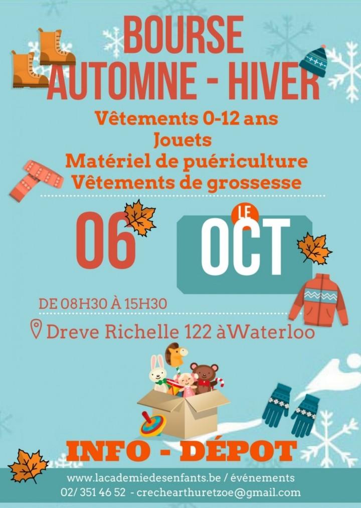 Bourse aux vêtements automne-hiver 0-12 ans et matériels de puéricultures et plus