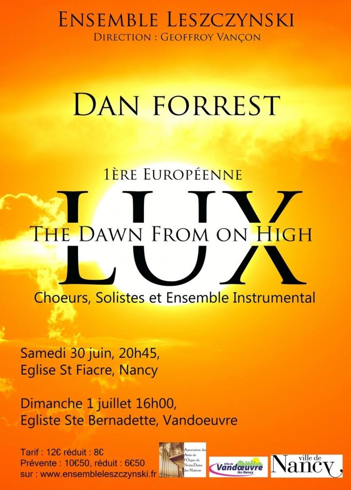 Concert Ensemble Leszczynski - LUX - 1ère Européenne de Dan FORREST